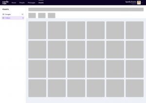 conferize video library wireframe ux