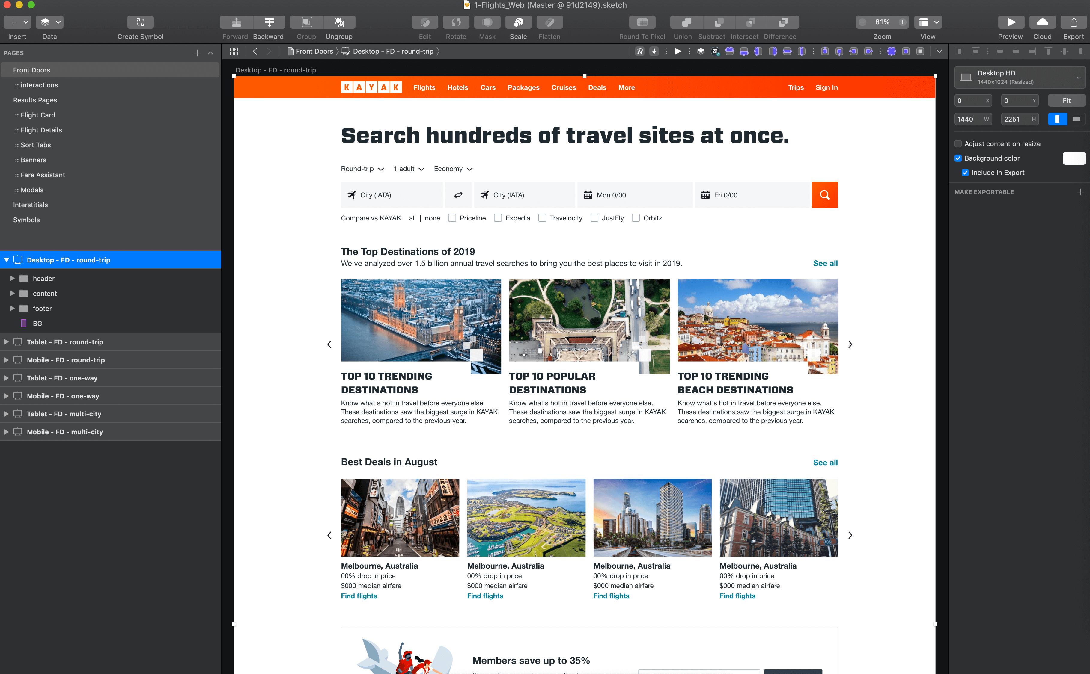 kayak-sketch-templates