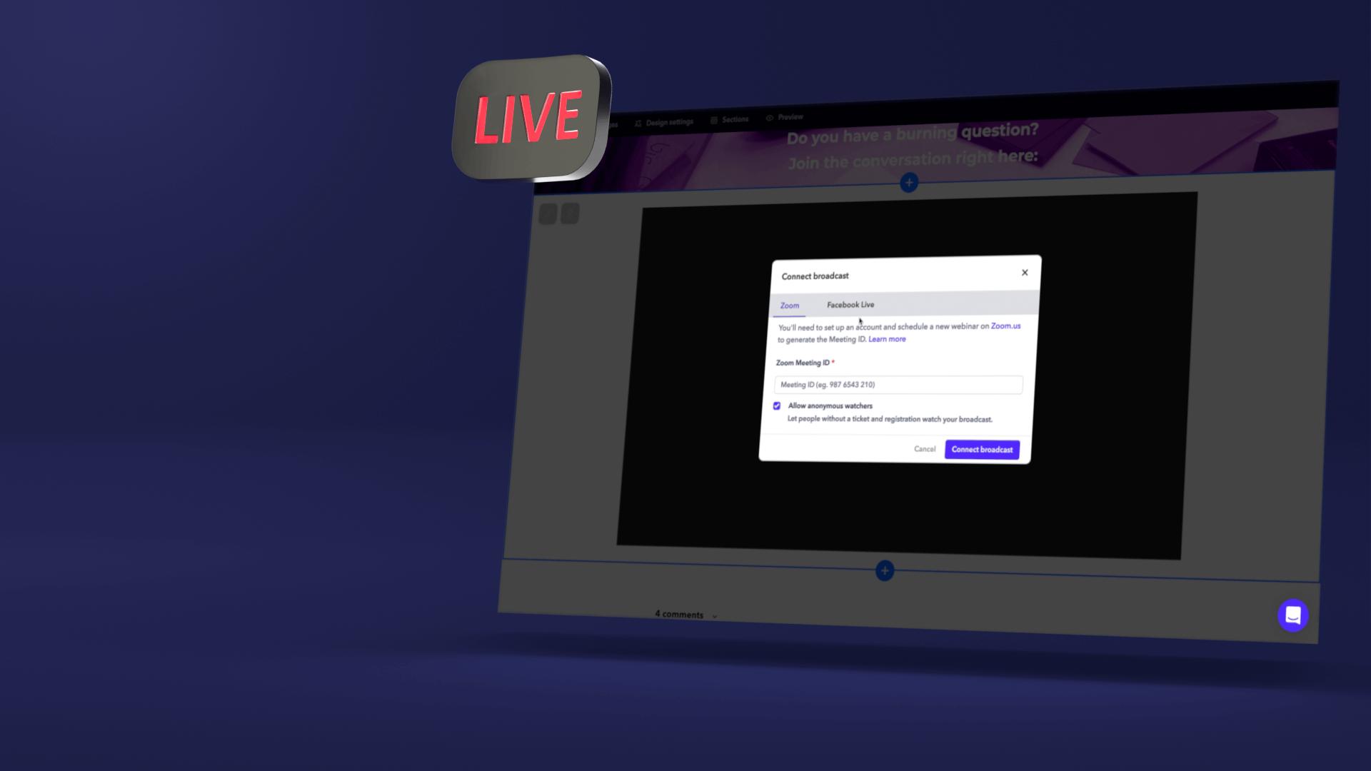 Conferize live event